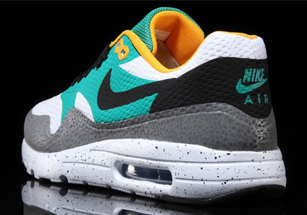 """NIKE AIR MAX 1 ULTRA MOIRE """"SAFARI"""" Color: WhiteEmerald Green Reflective Silver Black Style Code: 819476 103 US Mens 7 12 sold by FreshnUp"""