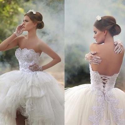 9ce730fe0c1a E146 short wedding dress,lace wedding dress,sexy wedding dress,strapless wedding  dress