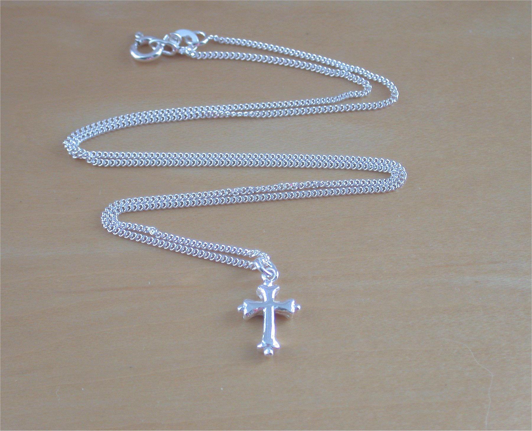 925 Small Silver Cross Pendant Charm   18