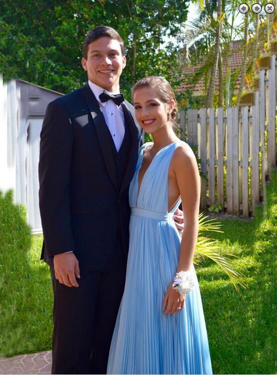 86902c74f340 E313 Hot Sales Light Sky Blue Prom Dresses