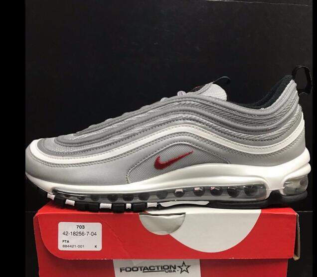 NEW DS 2017 Nike Air Max 97 Metallic Silver Bullet OG QS Retro 884421 001 sold by cleatssale4A