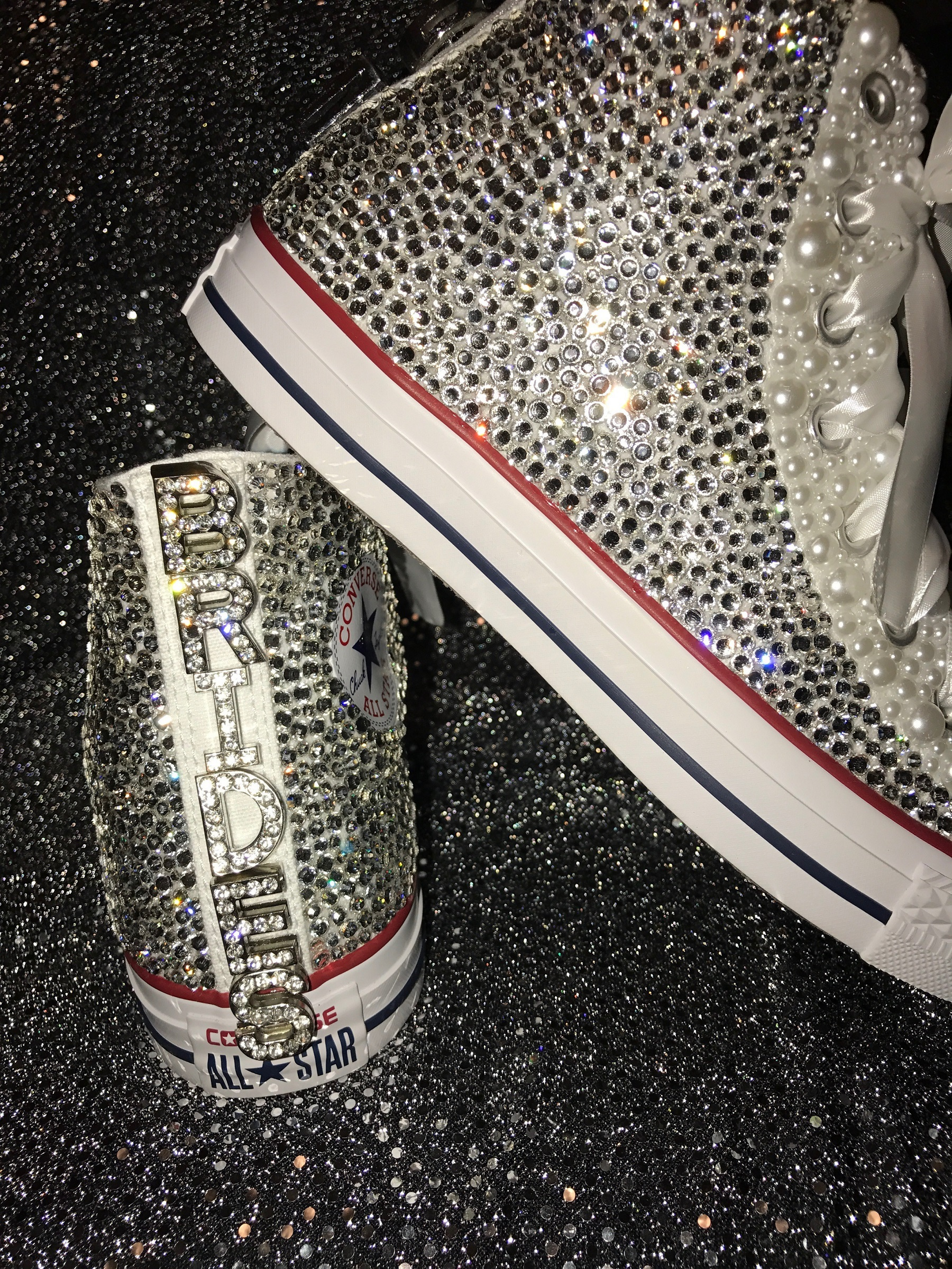 ff0beac467d1 Adult Rhinestone Converse Shoes
