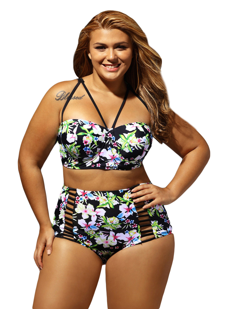 29658947d0e Plus Size Monokini Swimming For Women Skirt Three Piece Set Swimwear Large  Size Swimsuit Female Bathing