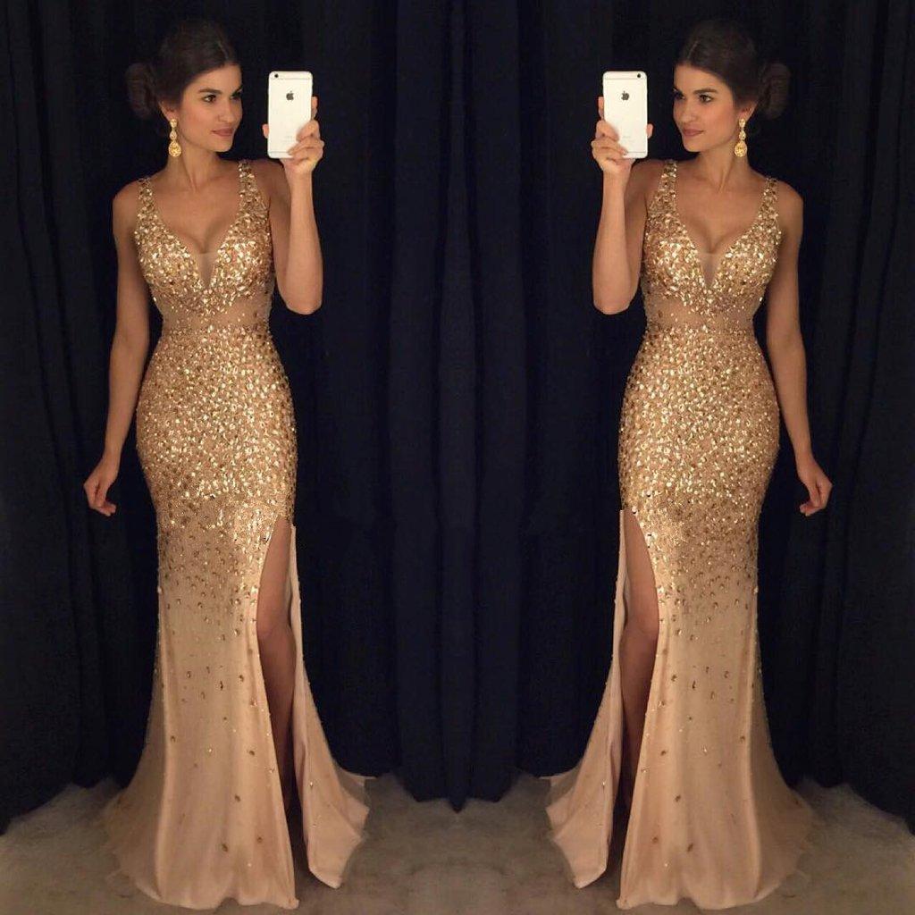 f586e9136da Fashion Sex Beading Long Prom Dress