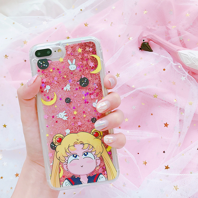 low priced fdbd7 15aff Sailor Moon Usagi Quicksand Phone Case for iphone  6/6s/6plus/7/7plus/8/8p/X/XS/XR/XS Max from pennycrafts