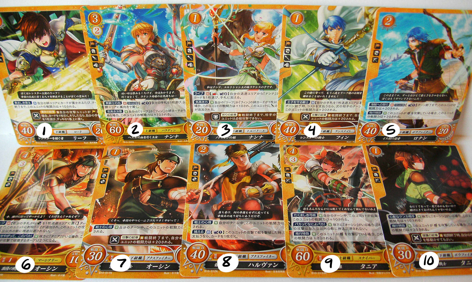 Thracia 776 Fire Emblem Cipher TCG cards (series 10)