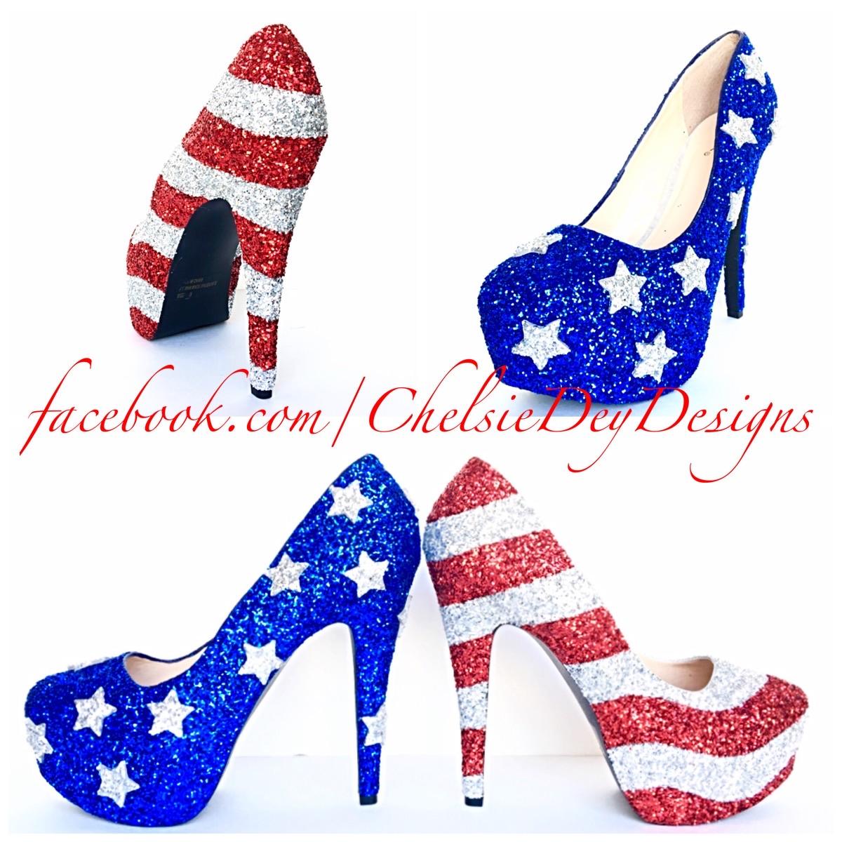 4bc788e6a Ready to Ship Womens Sparkly Black Red White Glitter High Heels Harley  Quinn Superhero Shoes wedding … American Flag Glitter High Heels, Red White  Blue ...