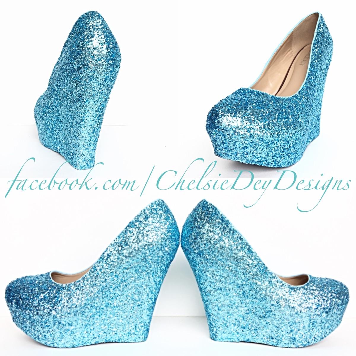 93de8bfb14e Tiffany Blue Glitter Wedges - Aqua Light Blue Heels - Robins Egg ...