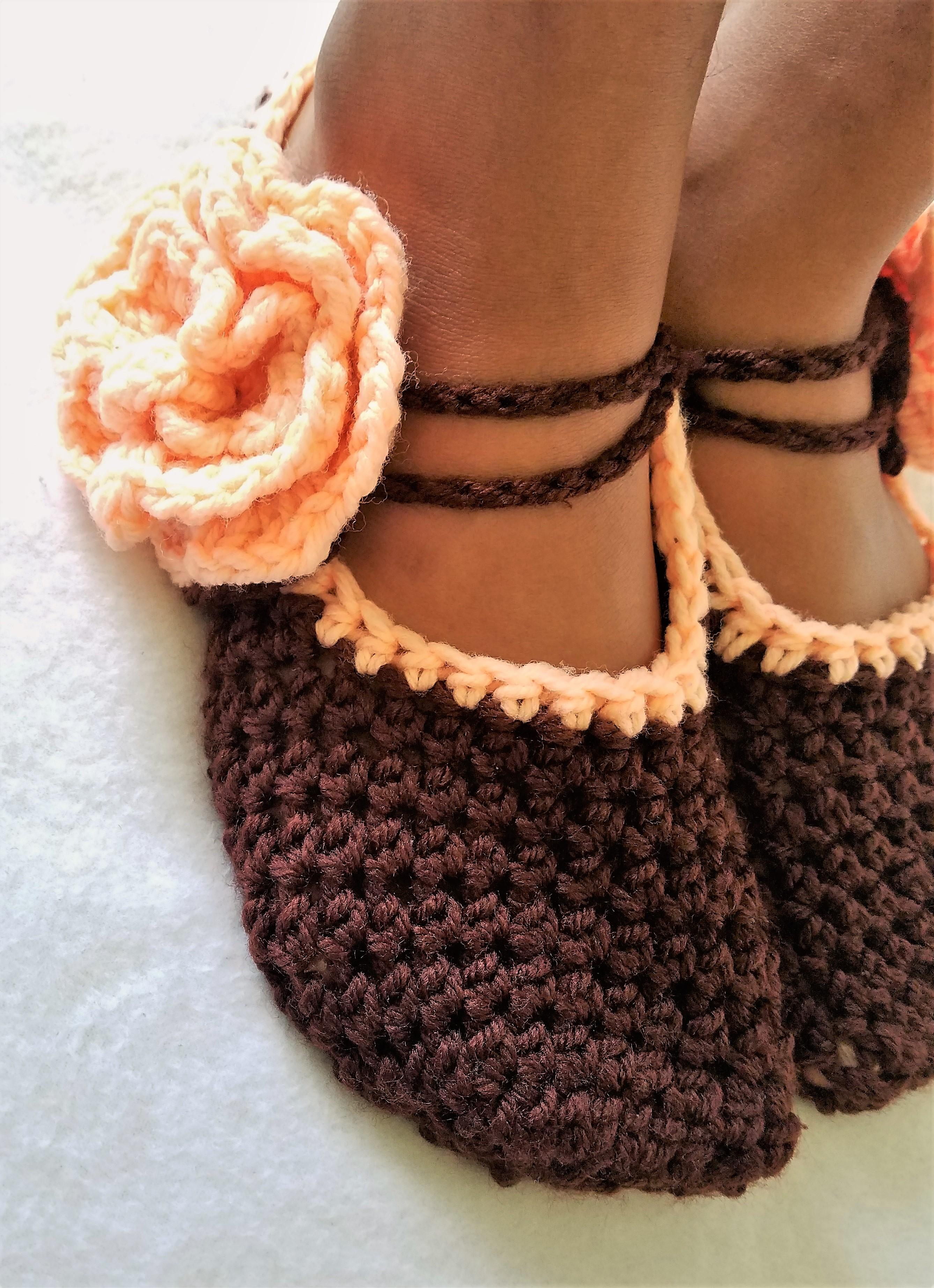Womens Crochet Mary Jane Slippers Imd Creates Online Store