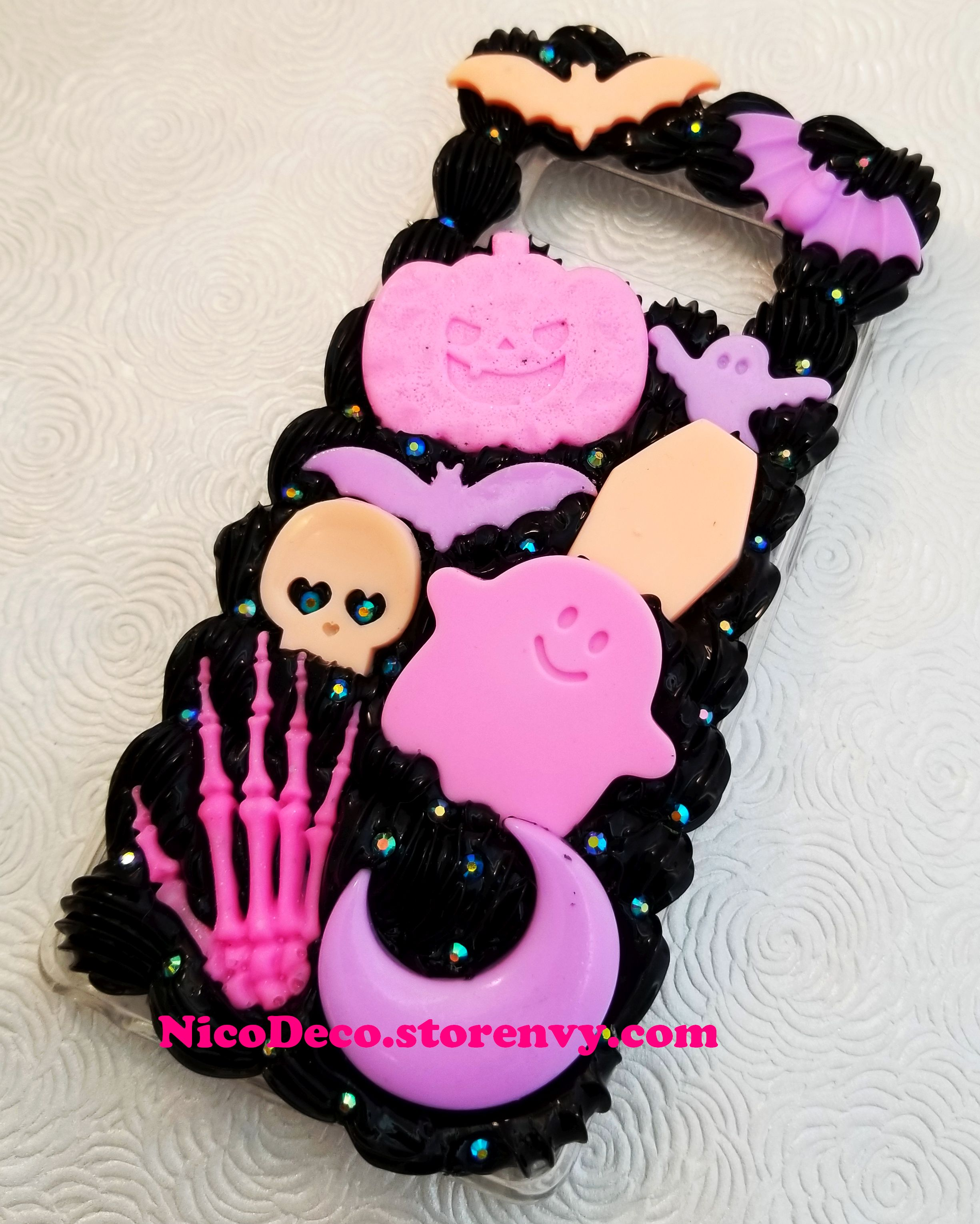 the latest 5a253 5f9c0 Halloween Pastel Goth creepy cute kawaii decora decoden phone case for  Samsung Note 8 from Nico Deco