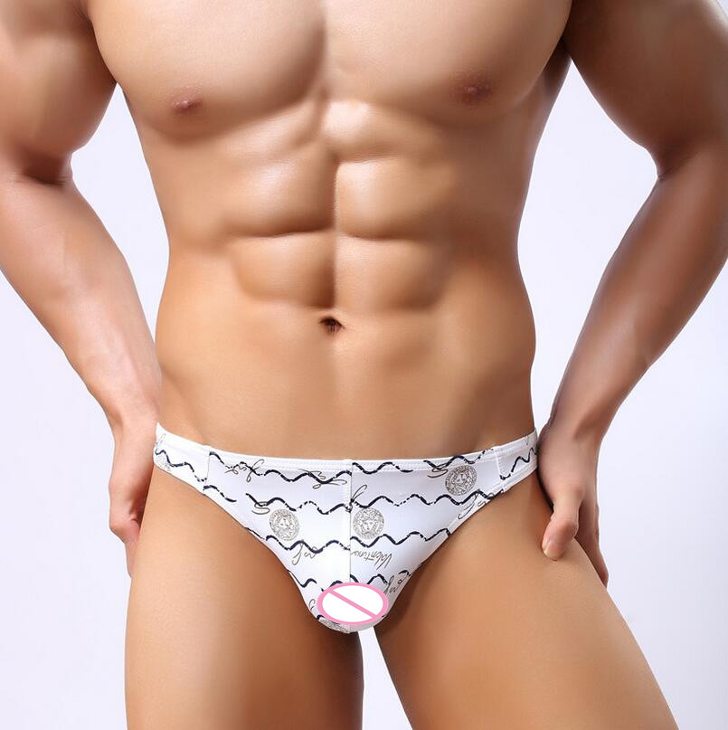02ac79965a Versace Medusa Design print Men's Silk Thong Brief underwear. - NEW ARRIVAL