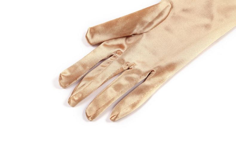 Champagne Gold Gold Long Satin Elegant Vintage Opera Party Gloves