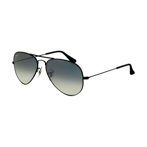Ray Ban Aviator RB3025 Sunglasses Black Frame Polarized Blue ...