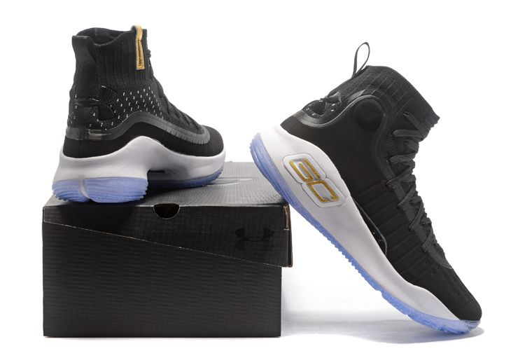 """promo code d87c8 ce552 ... Under Armour Curry 4 """"Away"""" Black White Basketball Shoes on Storenvy ..."""