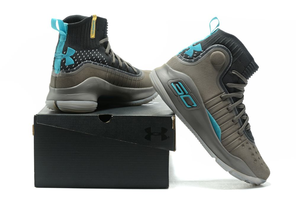 Cheap Under Armour Curry 4 Grey-Black University Blue For Sale on Storenvy d0f0add44d