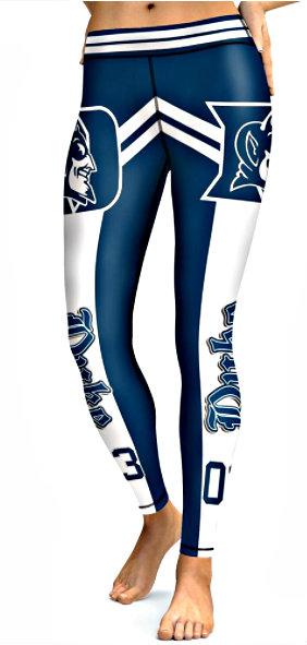 7bd7eb01 Women's Athletic Pants Tight Leggings Duke Team Football Nfl Blue-white  (all size)