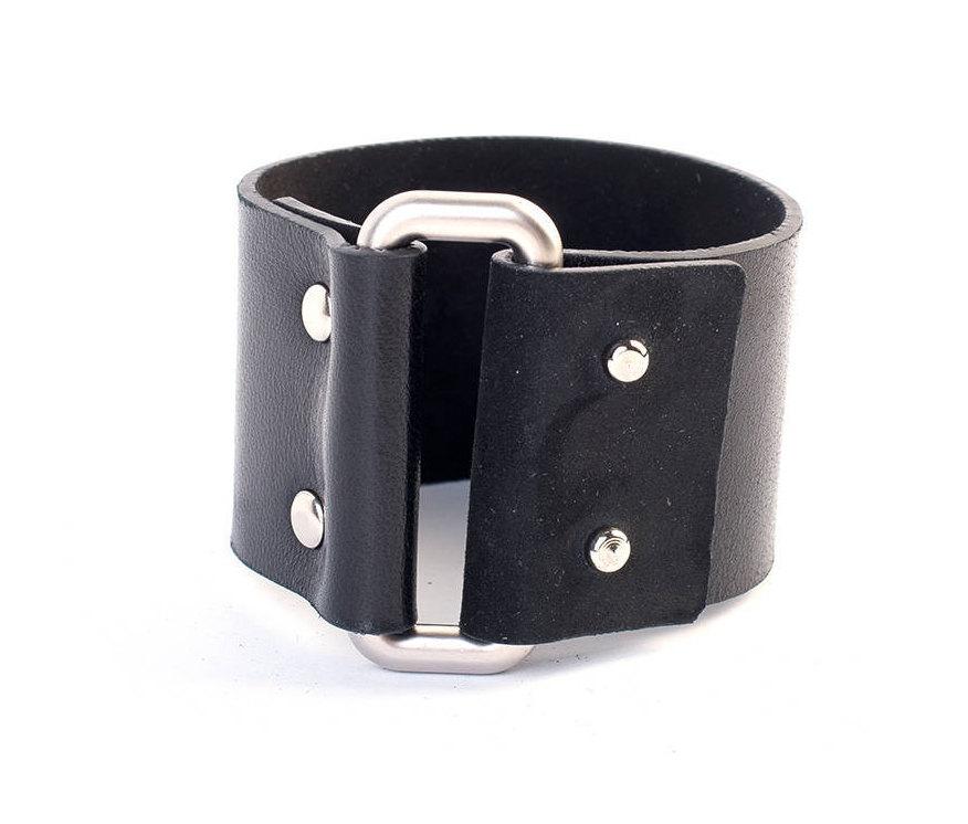 6f18be26011d3 Leather cuff bracelet, Black leather cuff, Silver cuff bracelet, Wide cuff,  Genuine leather cuff, Black cuff bracelet, Womens rustic cuff from thedark