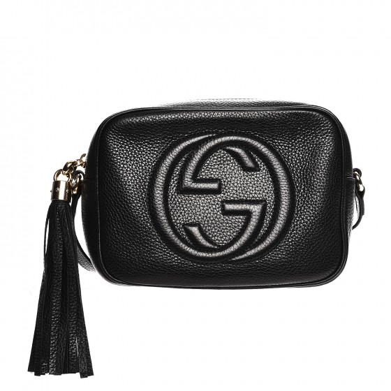 025b0cd75d3b Gucci pebbled calfskin small soho disco bag black 00 original