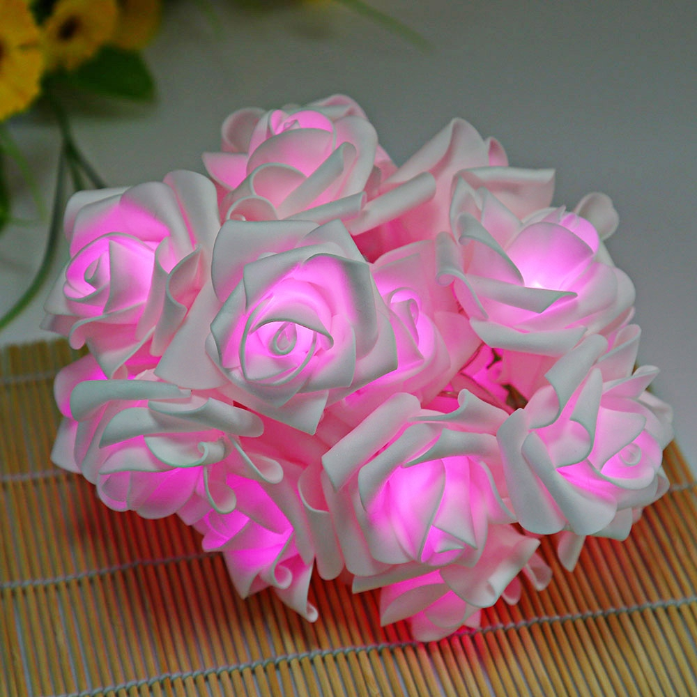 25m 20 Leds Rose Flower Fairy String Lights For Holiday Party Home