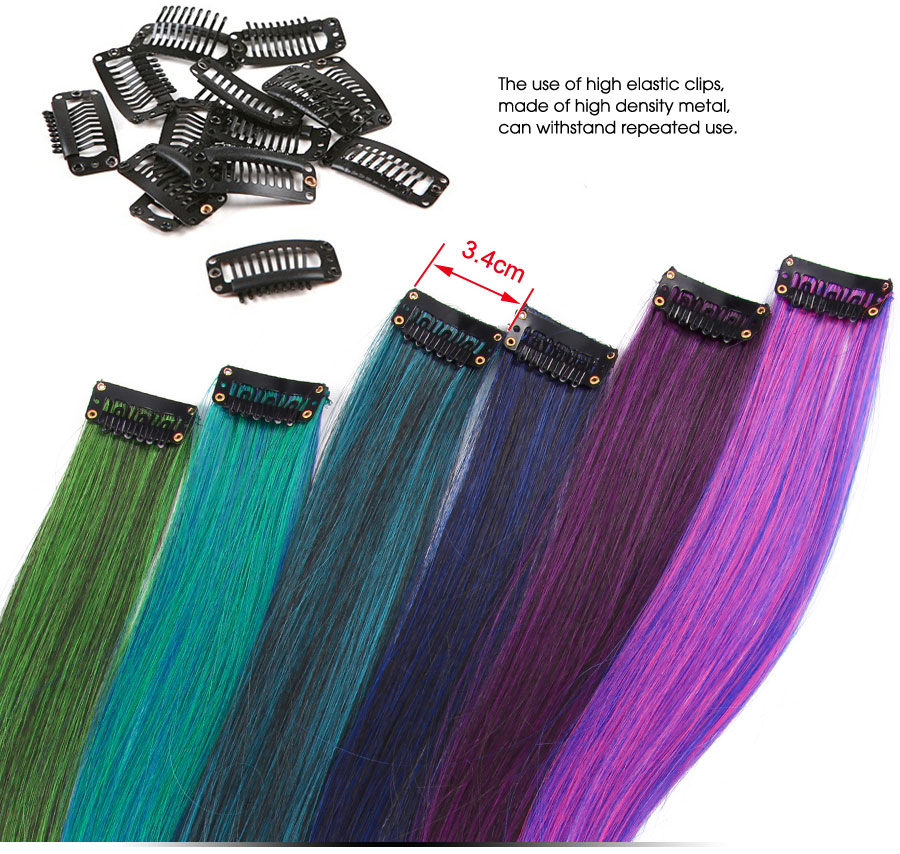 50cm Single Clip In One Piece Hair Extensions Synthetic Long