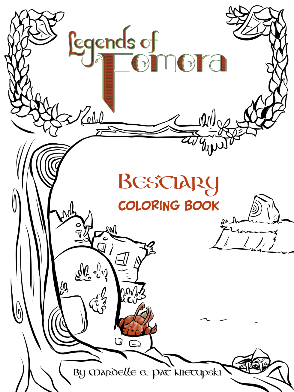 Bestiary Coloring Book on Storenvy