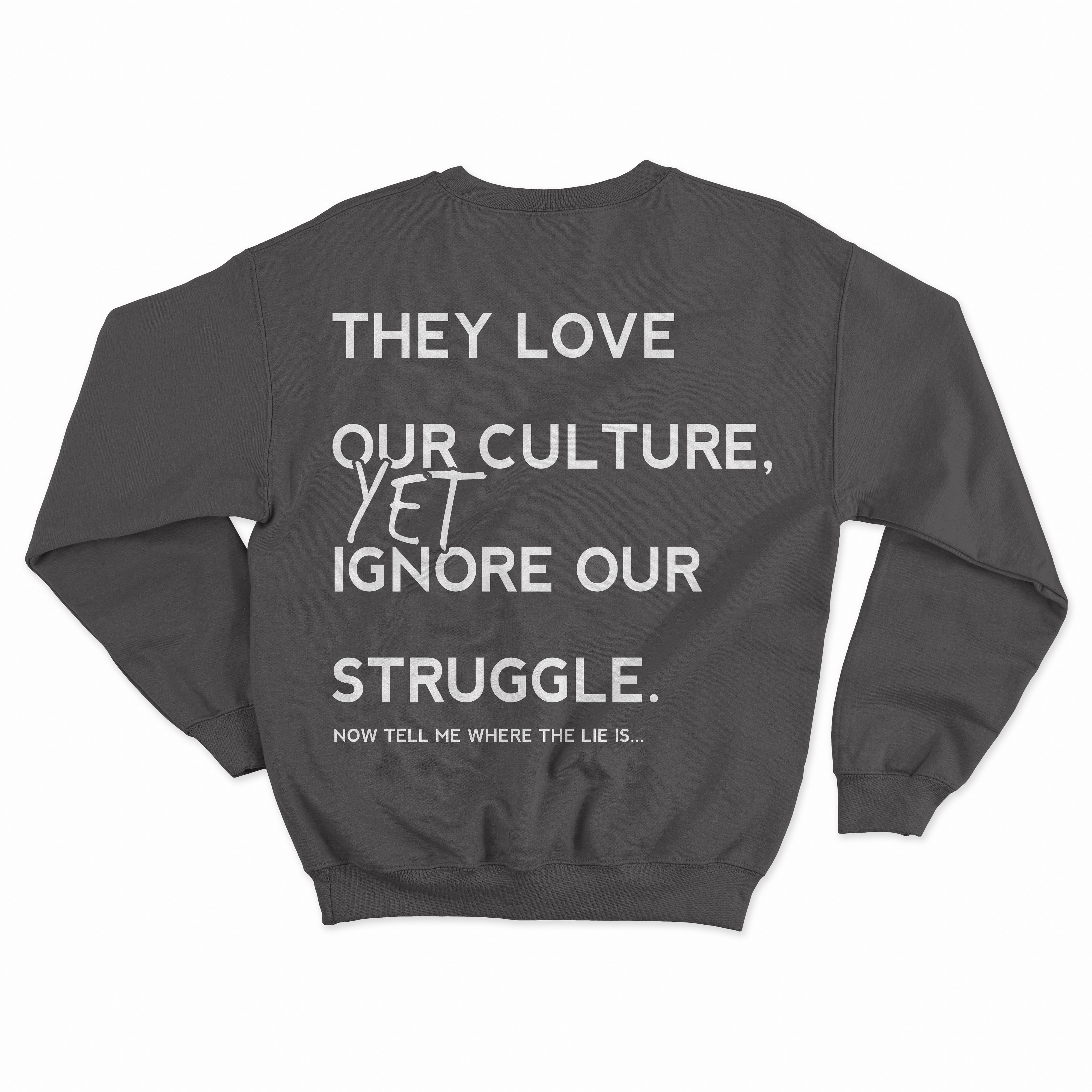 a2b56057 They love our Culture Sweatshirt · THE UNIVERSITY CLOSET, LLC ...