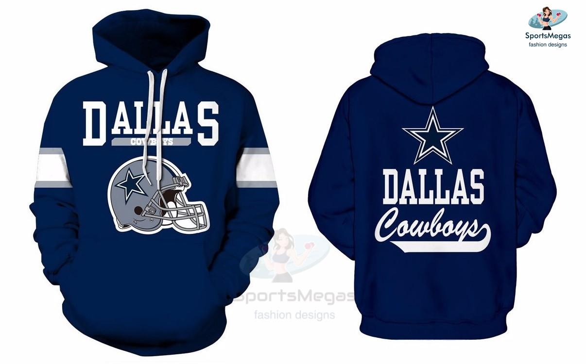 watch d6746 04a71 Dallas Cowboys NFL Football Team Hoodie