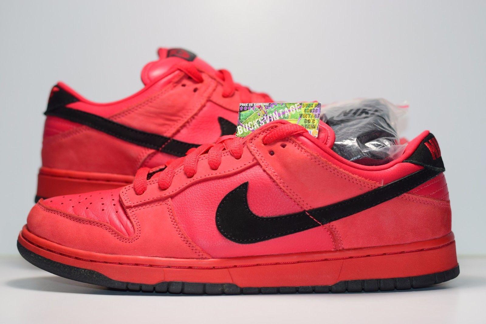 purchase cheap 016e8 7e6c4 Size 10.5  2003 Nike Dunk Low Pro SB TRUE RED Original Authentic 304292-601