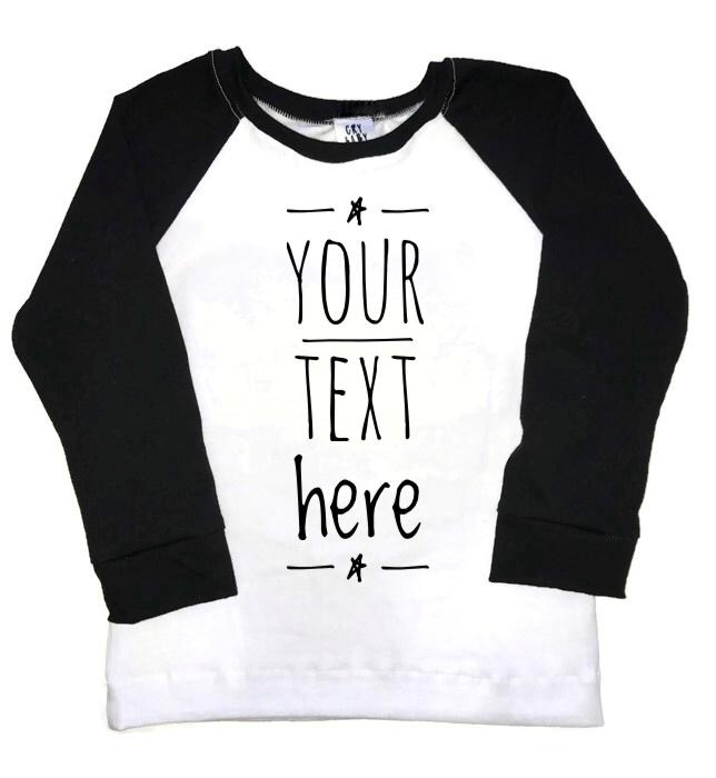 adf1809a Custom Handmade Raglan Tee Shirt Design Your Own · CryBabyFashion ...