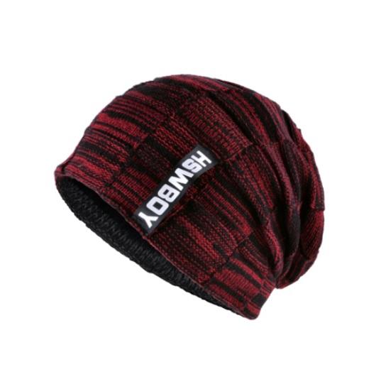 Knitted wool Men s winter hat - Red · PesoDeals · Online Store ... b4efacf4dda