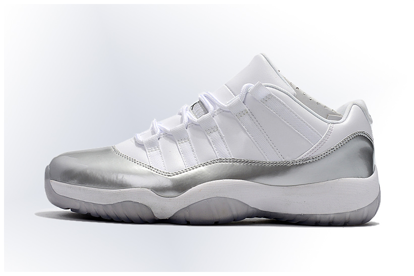 "2017 Air Jordan 11 Low ""Heiress"" White Silver For Sale Mens Basketball Shoe  size 7-13 on Storenvy"