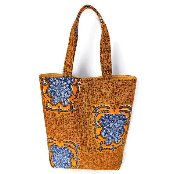 da5e1a4c5975 Ankara Wax African Print Tote Bag African Modern Medium Tote Bag ...