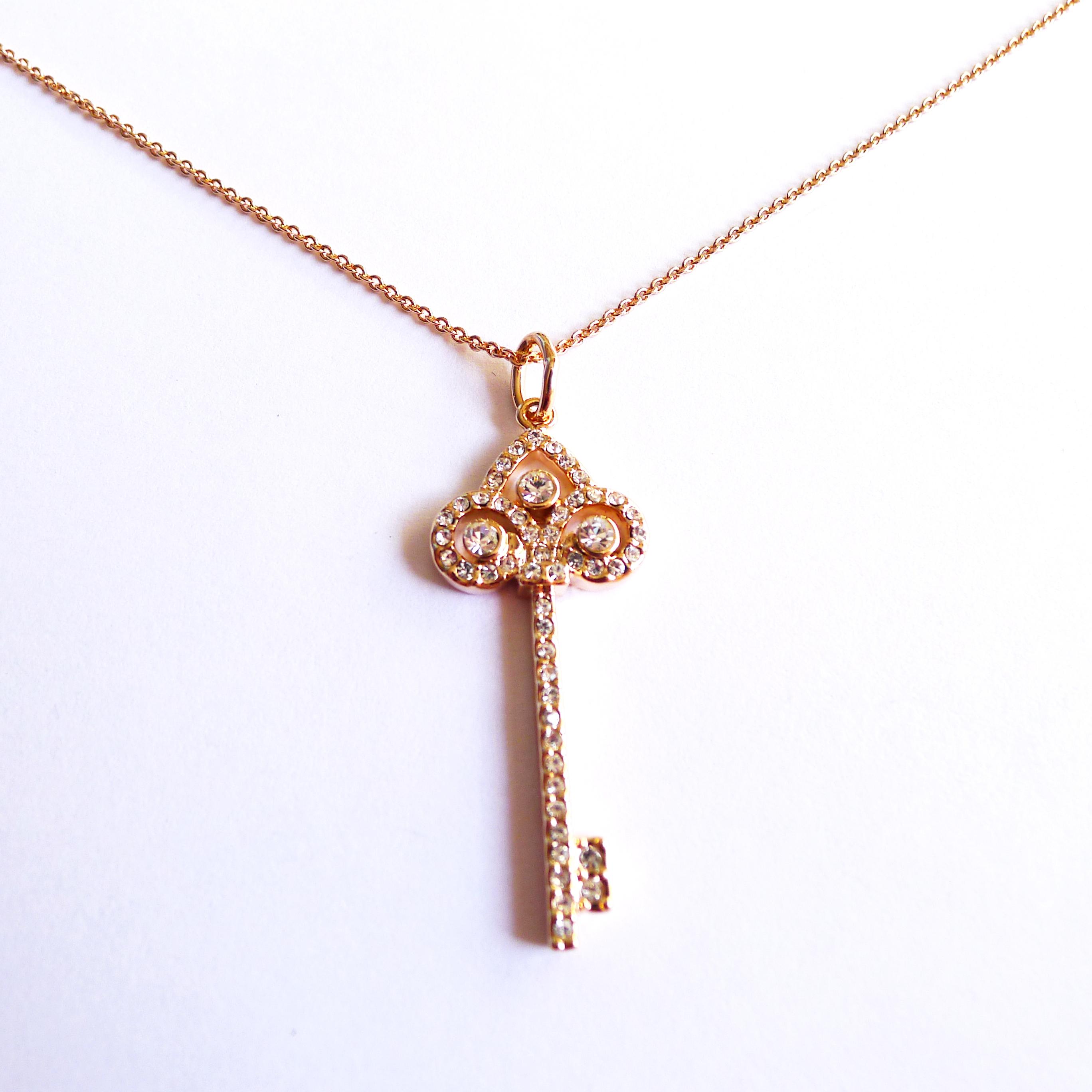 Smith fleur de lis key pendant with rose gold chain on storenvy p1100094 original aloadofball Choice Image