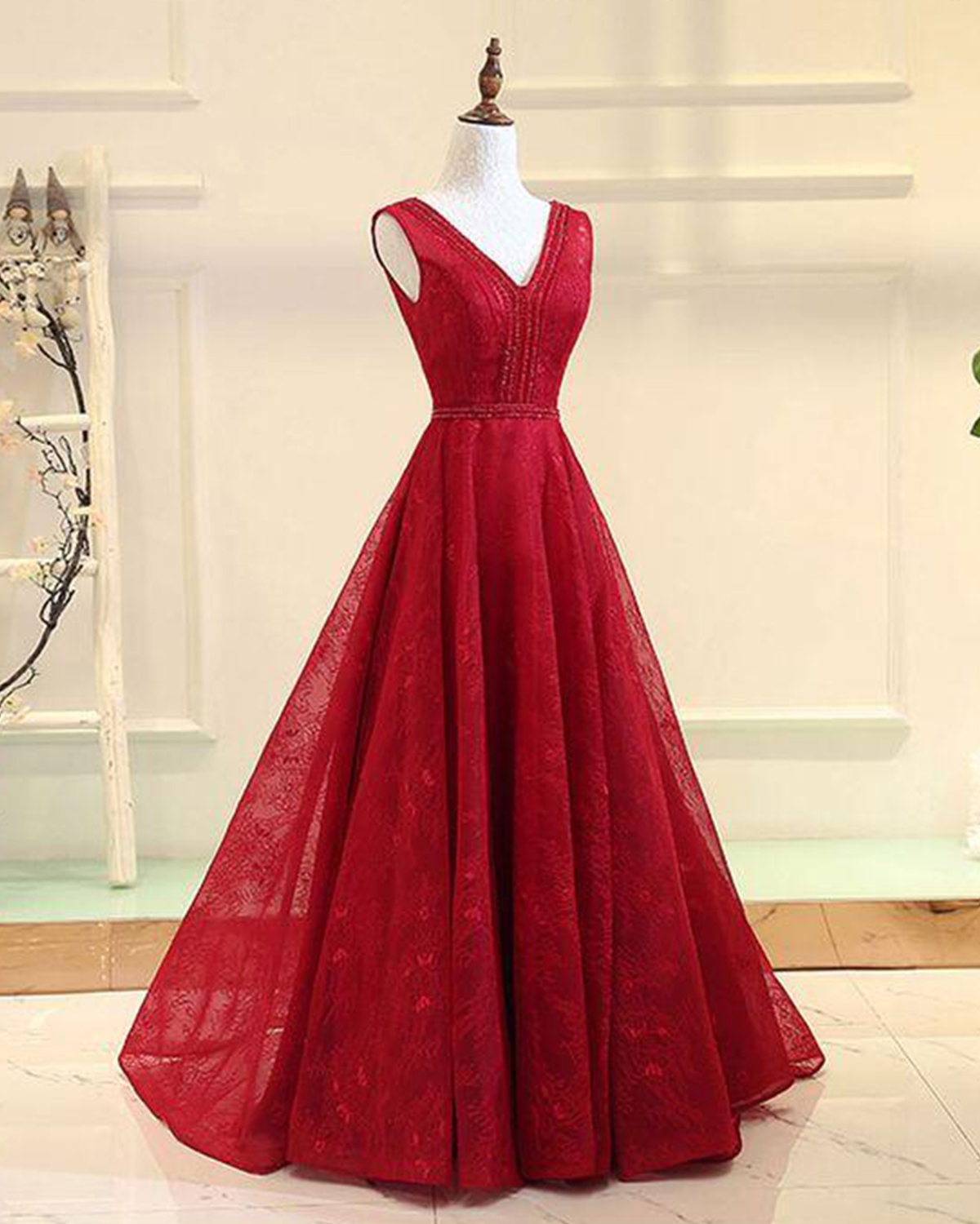 Red Halter Prom Dress