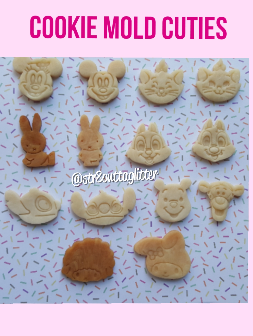 Sweet Mouse Treats (Cookie, Candy Apple, Popcorn, Churros) Molds from  Straight Outta Glitter