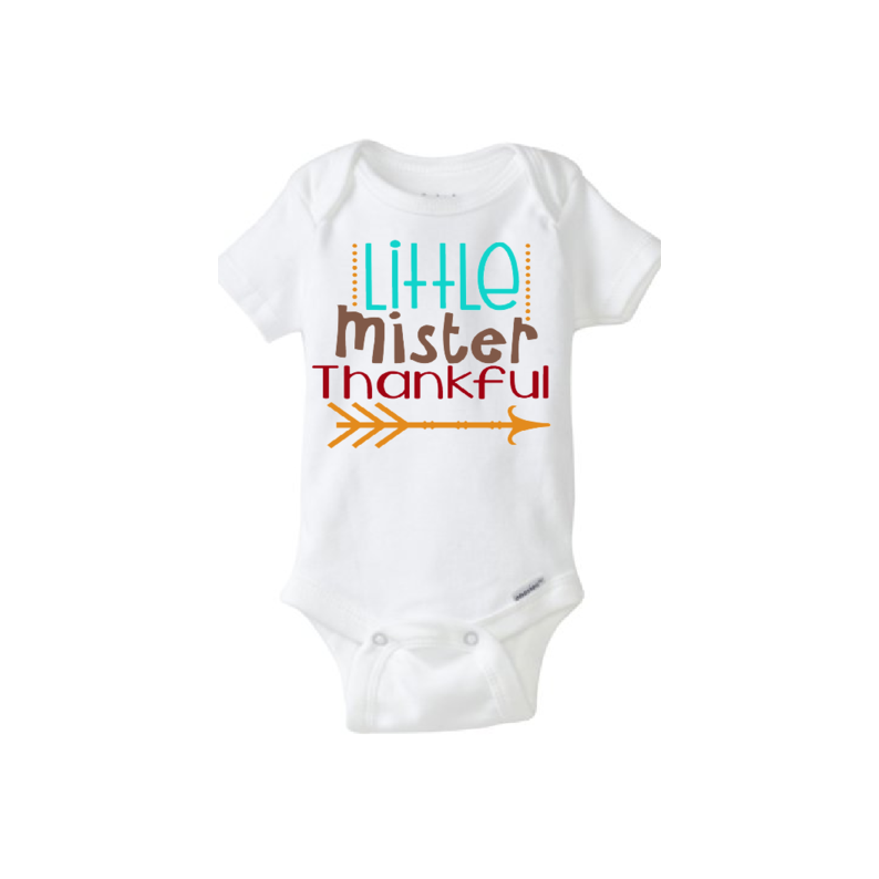 Baby Onesie Little Mister Thankful · CryBabyFashion · Online Store ... b05a14e84