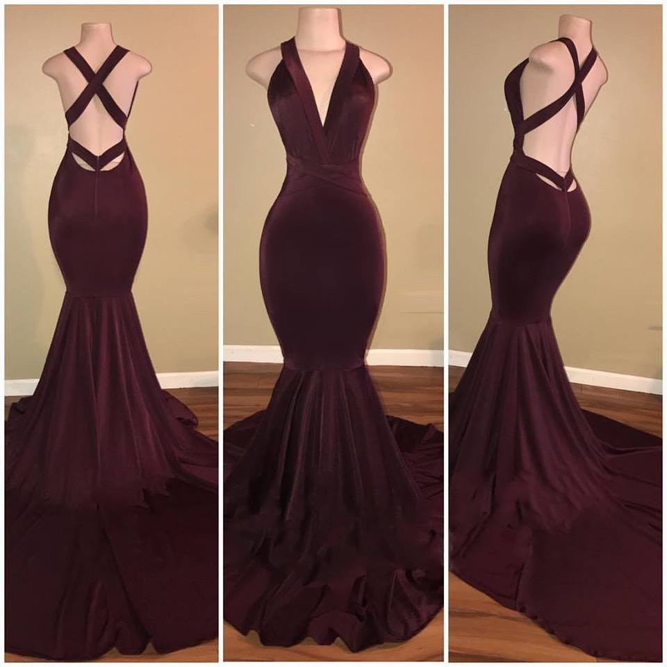 Prom Dresses V-Neck on the Back
