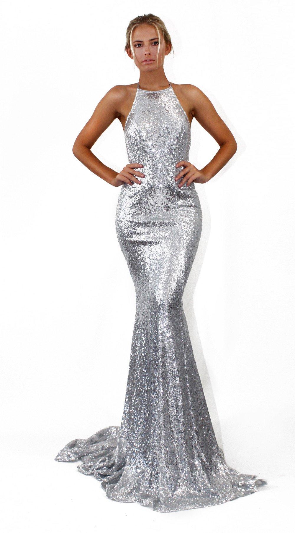 a483308c6127e Sexy Mermaid Prom Dress,Silver Prom Dress, Spaghetti Straps Long Prom  Dresses,Backless ...