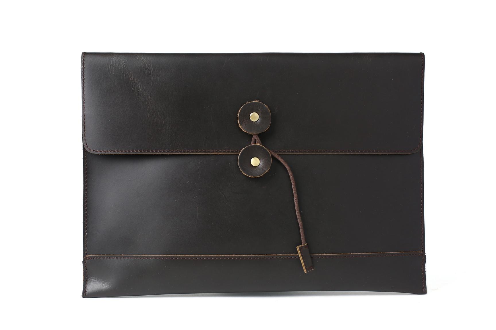 6ec5f04a912d Business Men s Handmade Vintage 100% Genuine Leather Envelope Clutch ...