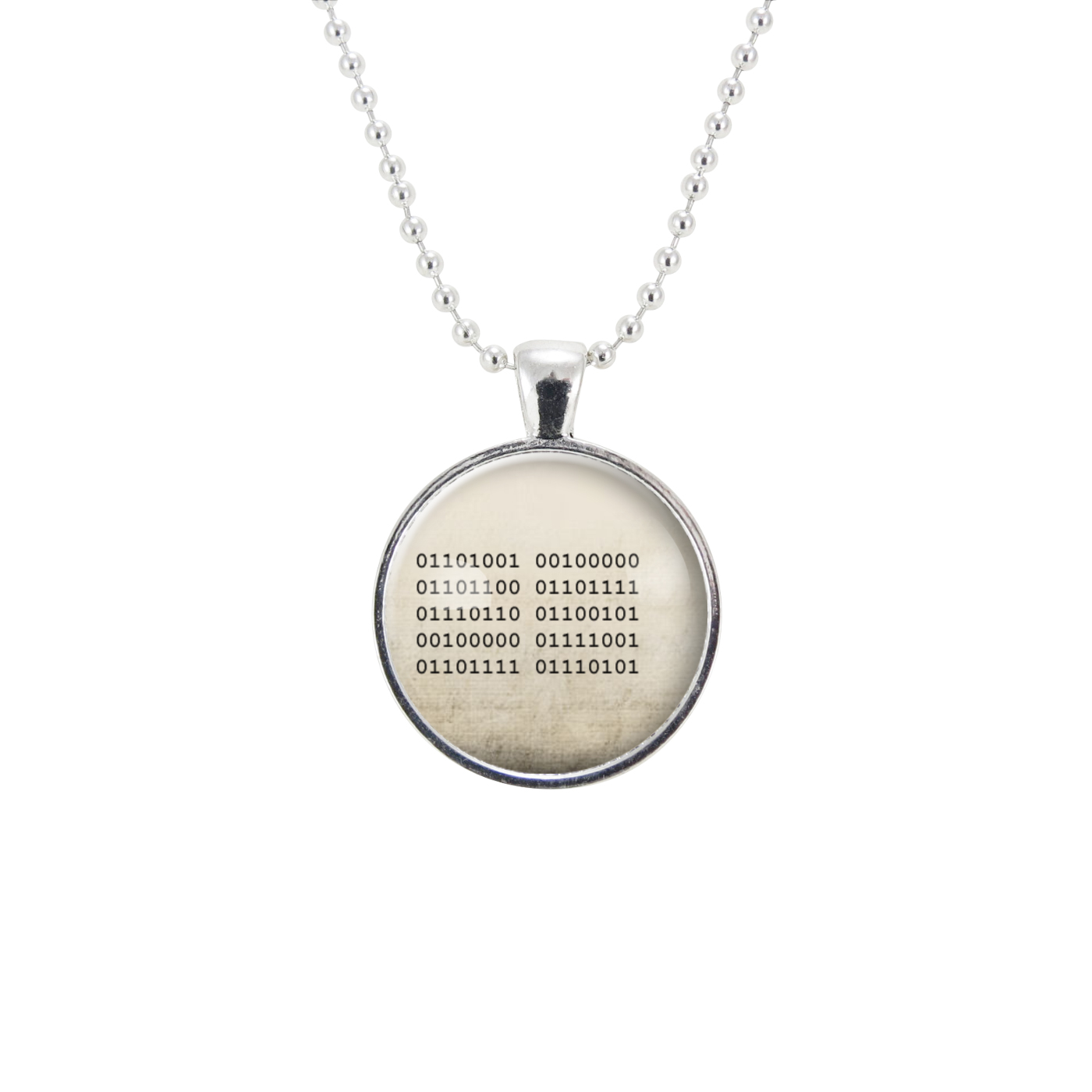Binary Code I Love You Necklace Romantic Nerd Gifts For Women Cute Geek Gift Ideas For Girlfriend Cellsdividing Online Store Powered By Storenvy