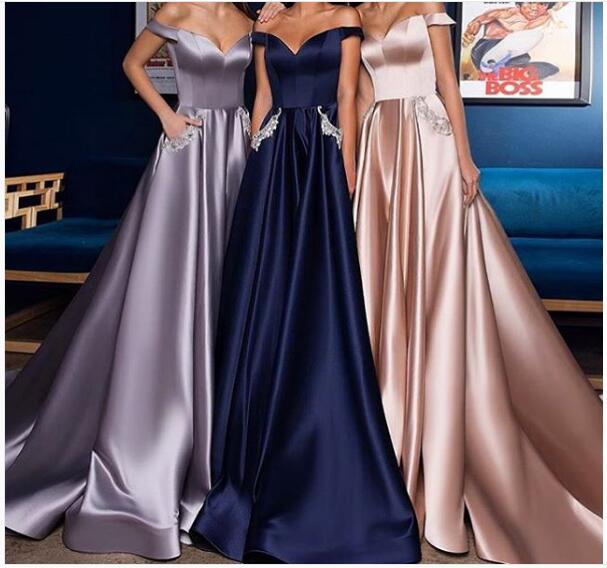 b81ba264048c 2018 A-line Prom Dress