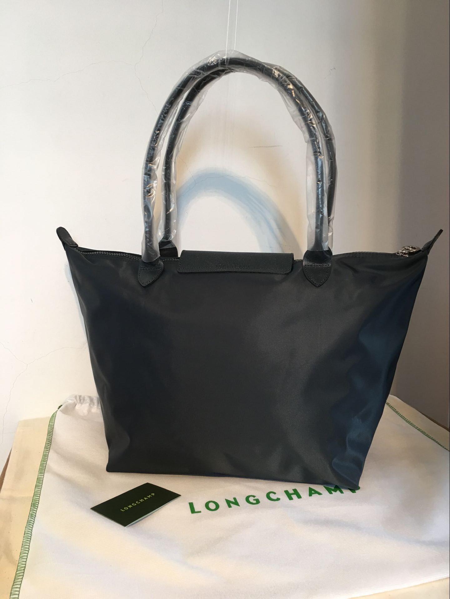 Authentic Longchamp Le Pliage Neo Large Tote Bag Graphite 1899578897 ... 97c12752ecc09