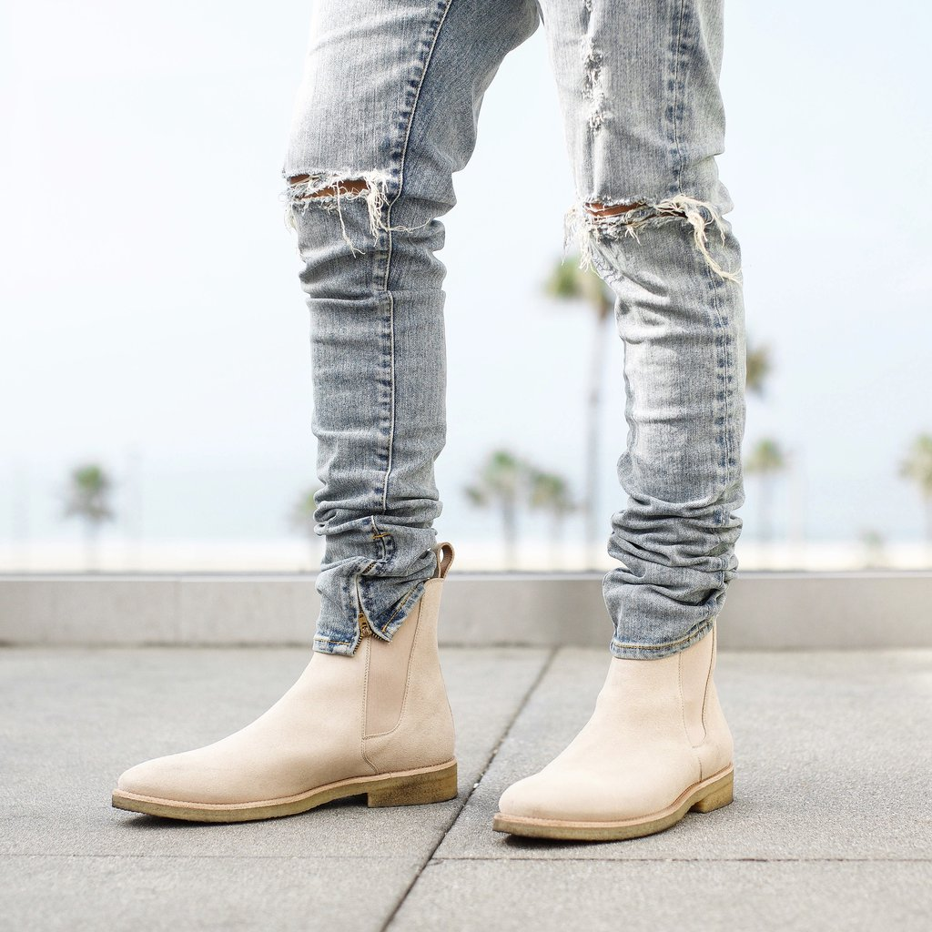 Chelsea Boots With Sand Crepe For Men On Storenvy