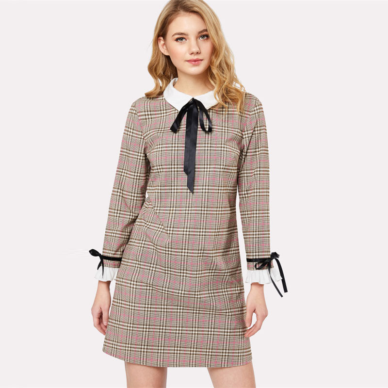 bf805d0a19 Peter Pan Collar Ruffle Cuff Plaid Dress on Storenvy