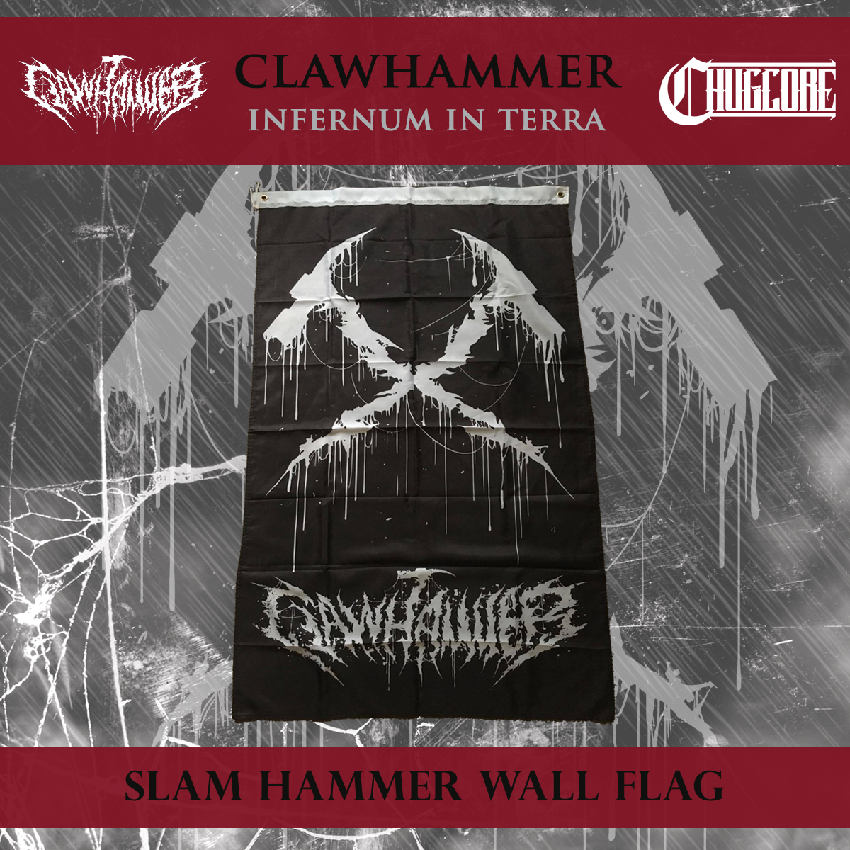 62716cccee1 Clawhammer - Wall Flag · Chugcore · Online Store Powered by Storenvy