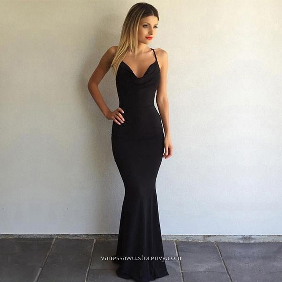 64f3c6037e6 Best Black Long Prom Dresses