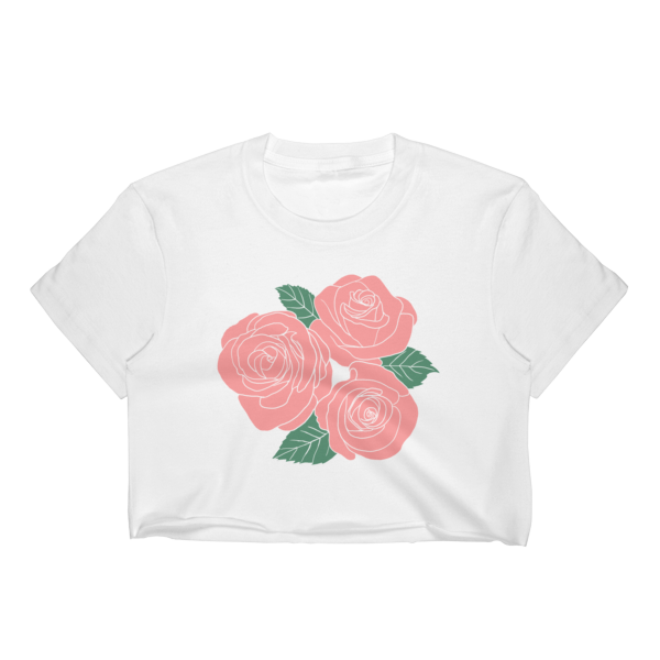 20f04f334e22 Pink Roses Crop Top · Black Sheep · Online Store Powered by Storenvy