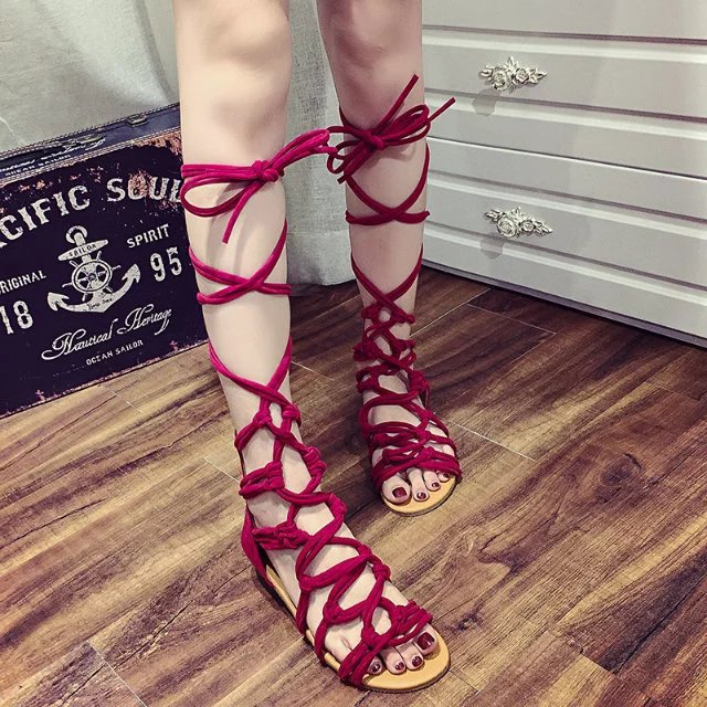 1e6f655f6de6 New Summer Fashion Women Leg Wrap Lace Up Gladiator Sandals on Storenvy