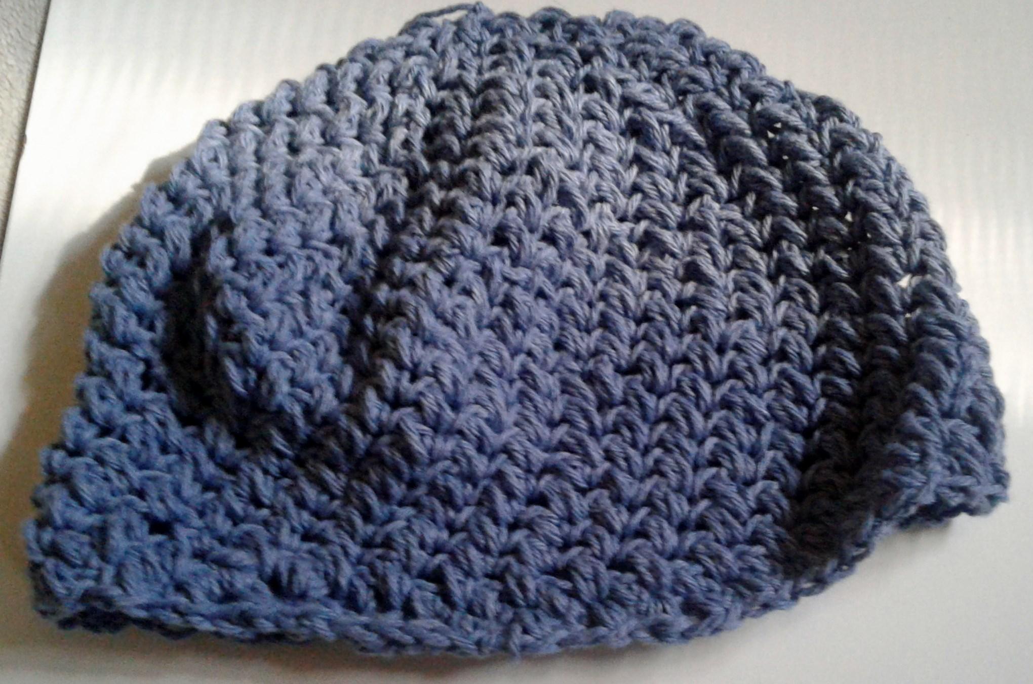 handmade blue spiral crochet beanie hat · kateejane s jewels ... b48f7c8744c
