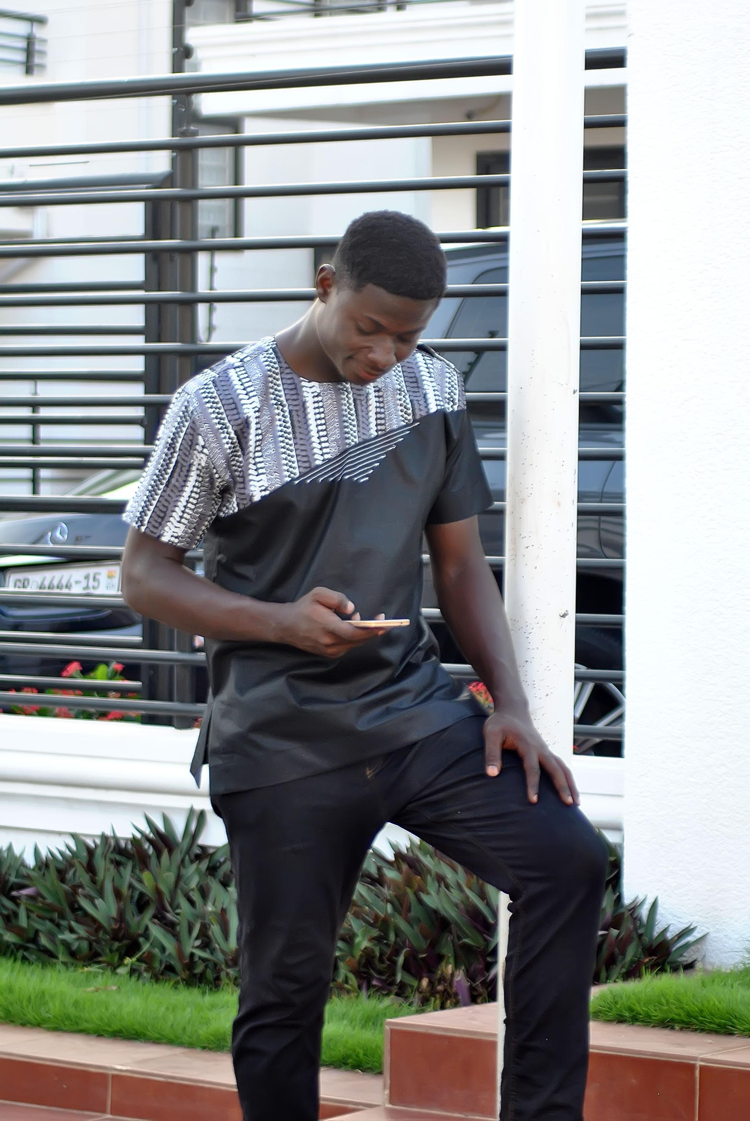27031b4dc32c Ankara Men's African Short Sleeve Shirt African Clothing Casual ...